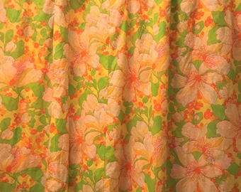 The Flower Power Shower Curtain 1970s Vintage Psychedelic Hippie Tropical Groovy Floral Hawaiian Print Bathroom Decor