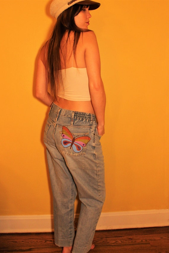The Dolly Jeans: 1980s Vintage Painted Rainbow But