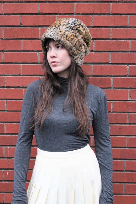 Her Animal Instinct Faux Fur Hat: Vintage Cejon Le