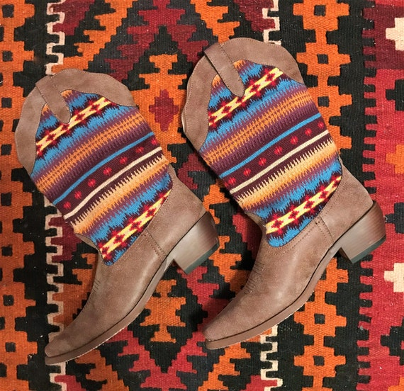The Tuscon Boot: Women's Roper Southwestern Colorf