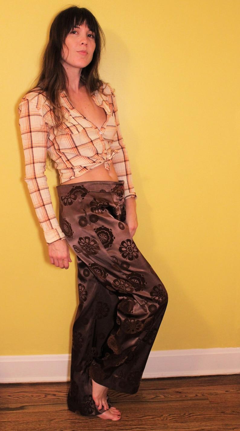 df04f0d9c1 The Flower Child Silk Pants: Vintage Retro Hippie Hendrix | Etsy