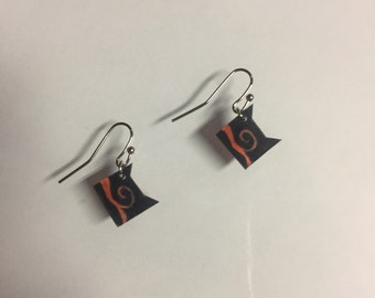 Stained Glass Warrior Cat Clan Earrings
