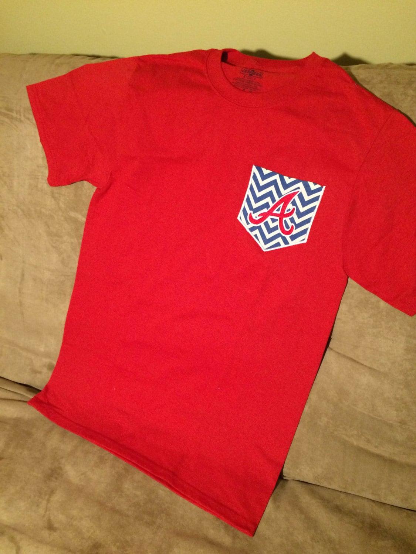 Atlanta Braves Red Pocket T Shirt Pocket Tee Mlb Shirt Etsy
