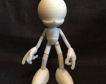 Blank Customizable Sonic the Hedgehog style BJD