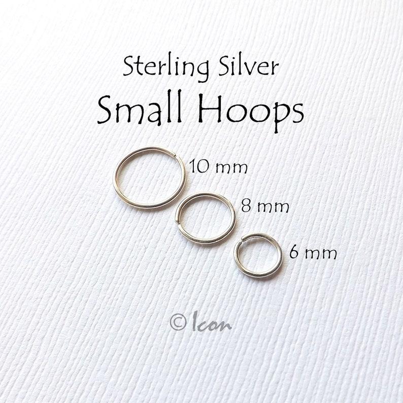 Cartilage Earring Silver Hoop Earrings Nose Ring Helix Ring Septum