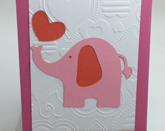 Valentines, Elephant, All-Occasion Card