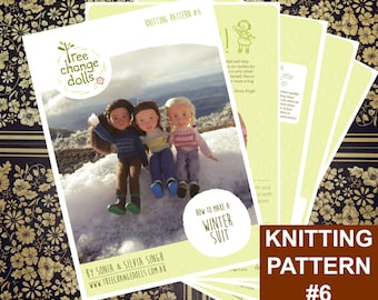 Tree Change Dolls® Knitting Pattern #6, Winter Suit, by Sonia and Silvia Singh