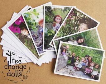 Set of 6 blank Tree Change Dolls® greeting cards, original photos by artist Sonia Singh