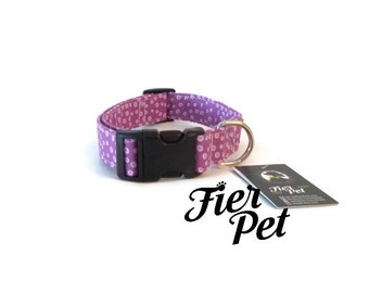 Designer dog collar,collar,adjustable collar,fier-pet,fierpet, lilas, girly collar, dog bowtie,handmade collar