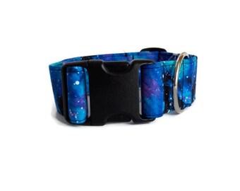 dog collar ,GALAXIE  collar , custom collar ,design in canada ,Designer dog collar, choose your fabric, collar,adjustable collar,fier-pet