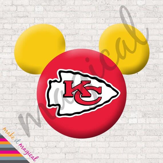 Chiefs Mickey Mouse Head Digital Download Kansas City Chiefs Mickey ...