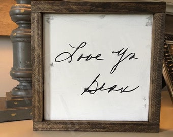 Engraved Frame Personalized Frame Mom Gift Mom Frame Custom Engraved Handwriting Frame Custom Picture Frame Mom Birthday Gift