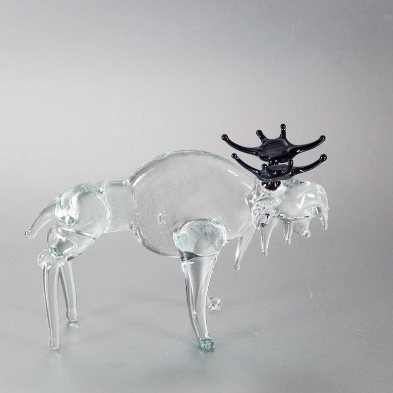 Moose Figurine of Hand Blown Glass