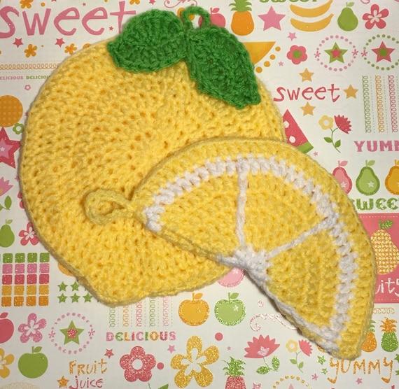Ensemble Manique Au Crochet Citron Etsy