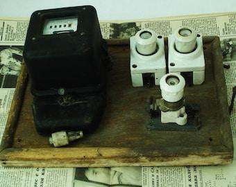 vintage electrical meter print electricity meter electric
