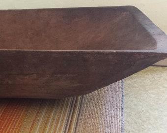 Antique Wooden Trough,wooden bowl,Wooden rectangular tray,Rustic wooden dough bowl, Rustic decor,Primitives decor,Country decor,Antique bowl