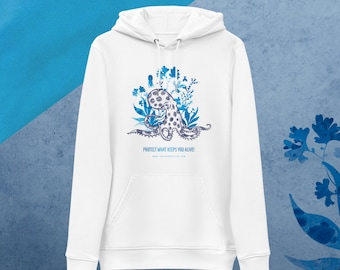 Unisex essential eco hoodie - Protect what keeps you alive - Collection - Octopus