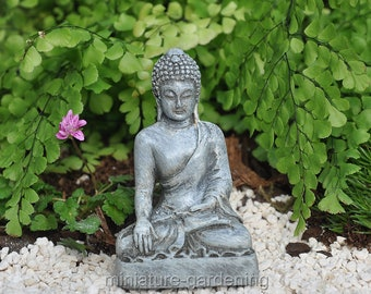 Buddha Sitting Lotus For Miniature Garden Fairy Garden