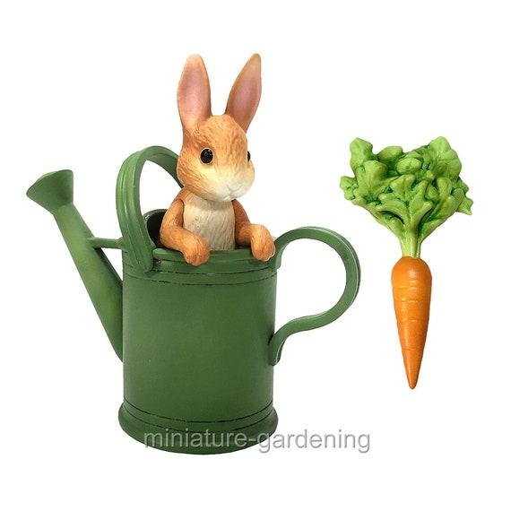Peter Rabbit In Watering Can Miniature Figurine
