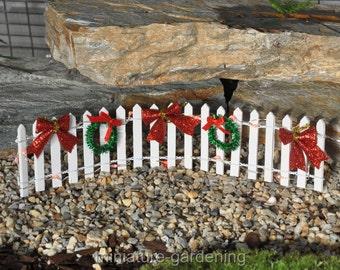 Sparkle and Lights Fence for Miniature Garden, Fairy Garden