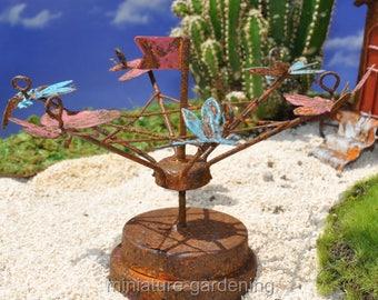 Tilt-A-Whirl for Miniature Garden, Fairy Garden