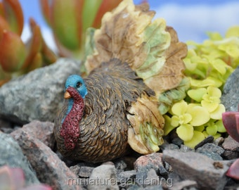 Gobble the Turkey for Miniature Garden, Fairy Garden
