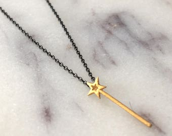 Magic Wand Necklace 14 Gold