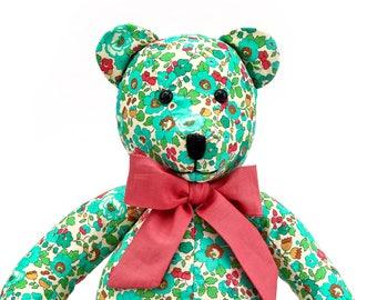 Handmade Floral Teddy Bear Stuffed Toy