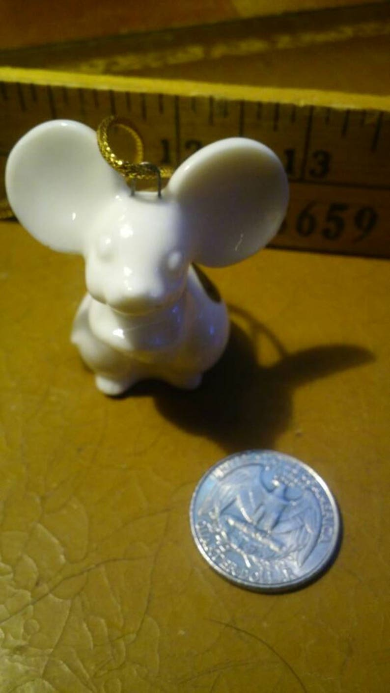 Vintage White Mouse Made in Japan