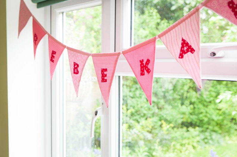 Personalised bunting Named bunting Baby name bunting image 0