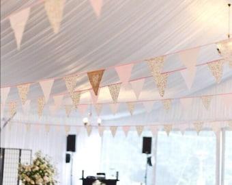 Wedding bunting, Rusting Wedding, Vintage bunting, Burlap bunting/ banner, Shabby Chic bunting, Rustic bunting/ banner,Vintage tea party