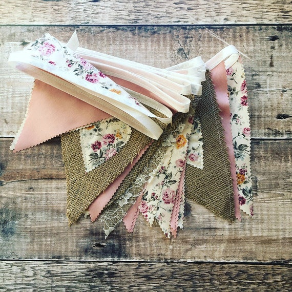 Hessian and Floral Bunting