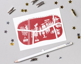 "Harry Potter ""Hogsmeade"" Papercut Postcard"