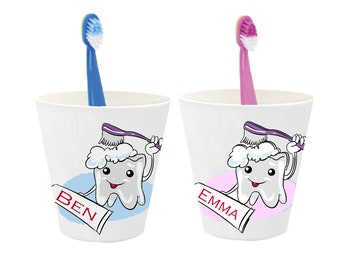 Children's toothbrush cup name, toothbrush cup personalized, toothbrush holder, gift first year