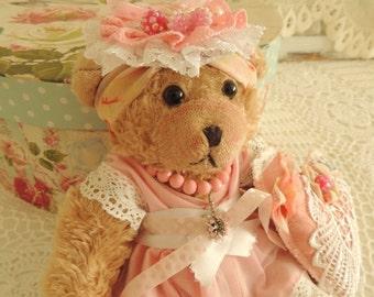 Vintage Teddy Bear Girl, Preschool Toy, Montessori Toy, Vintage Toy, Prop, Property, Requisite, Children Room Decor Decoration, Collectibles