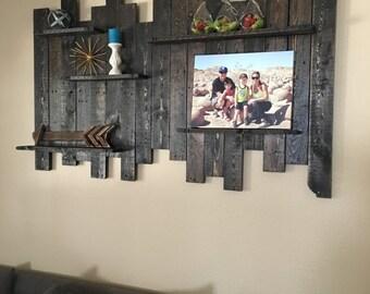 Reclaimed Wood Wall Shelf Decor Pallet Rustic Shelves