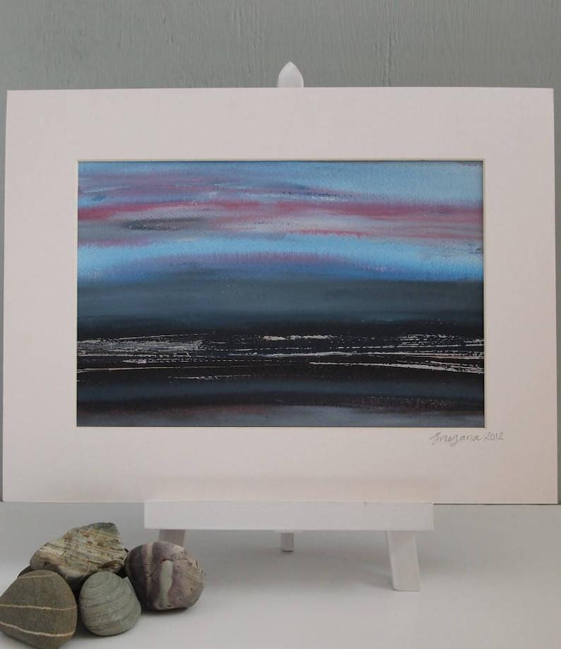 Original Abstract Landscape Painting Unframed wall Art : Dusk image 0