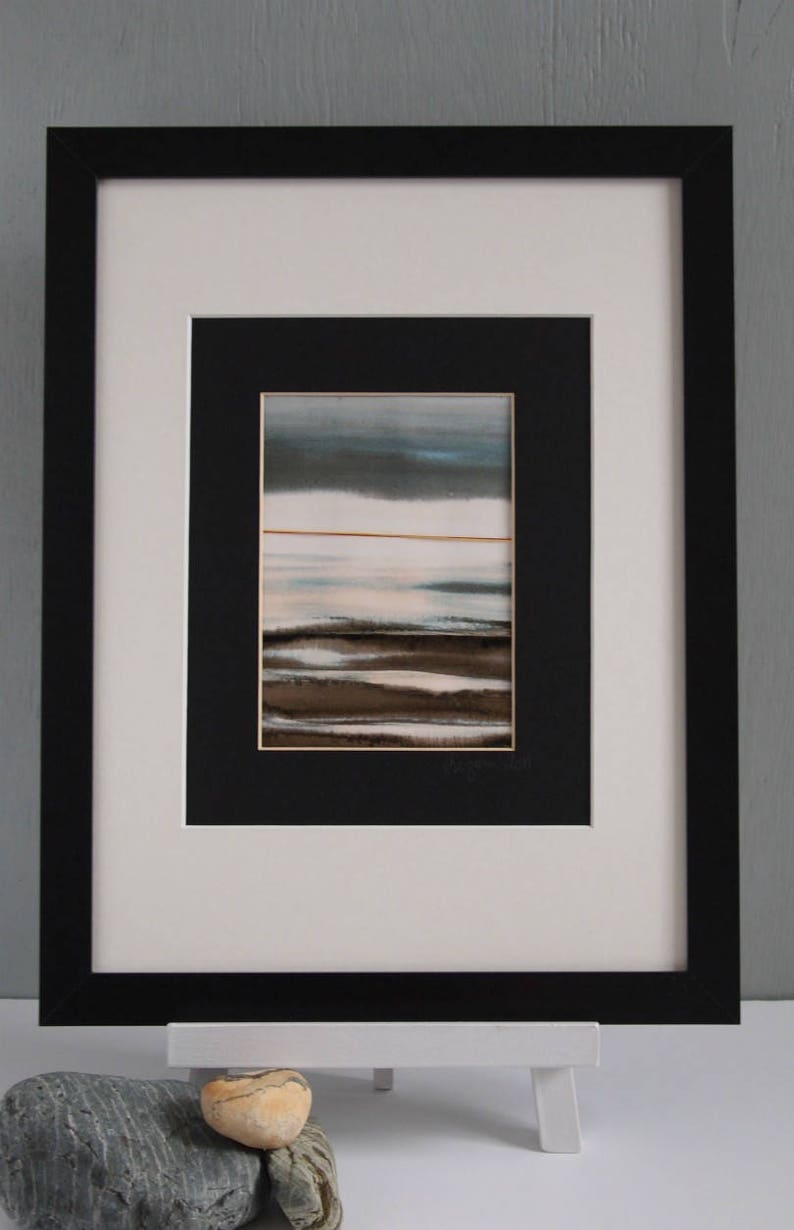 Original Abstract Landscape Painting Framed Potrait Wall image 0