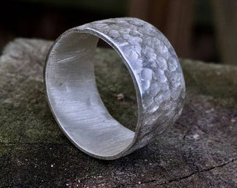 Handmade And Textured Sterling Silver Ring