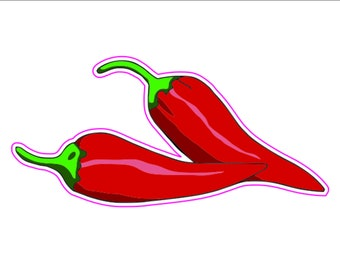 f5a9f67bccd0 Chili pepper sticker | Etsy