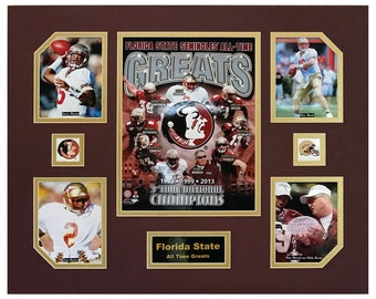 All Time Greats NCAA 8x10 Photo Florida State University Seminoles