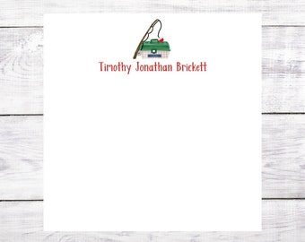 Personalized Notepad - Fishing - Father's Day - Birthday - Christmas - Gift - Party Favor - Green - Free Shipping