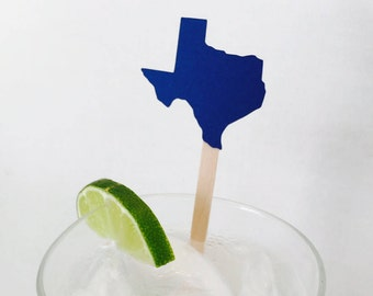 15 State Swizzle Sticks - Texas - Drink Stir Sticks - Housewarming - New House - Going Away Party - Celebration - New Job - New State