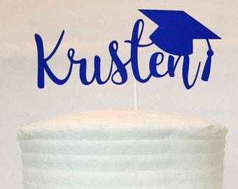 Graduation Cake Topper - Personalized - Name - High School - College - Kindergarten - Class of - Congratulations - Grad - Graduation Party