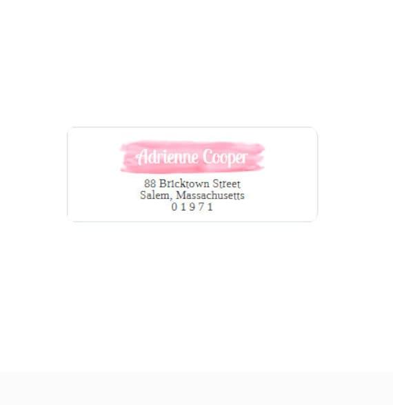 return address labels pink and black return address etsy