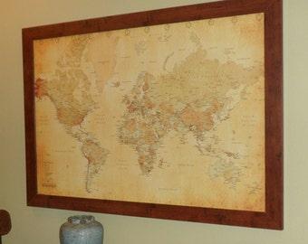 World Map Travel Pins.Push Pin Travel Map Etsy