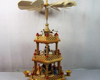 big erzgebirge christmas pyramid german carouselhandmade christmas carousselerzgebirge candle holder carouselchristmas windmill - German Christmas Pyramid Kit