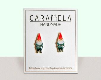 Garden Gnome Stud Earrings