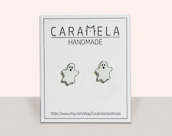 Ghost Earrings Halloween Earrings Stud Earrings Ghost Jewelry Halloween Jewelry Gift Idea