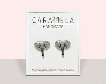 Elephant Stud Earrings Animal stud Animals earring Elephant earrings wild animals stud earrings Gift idea